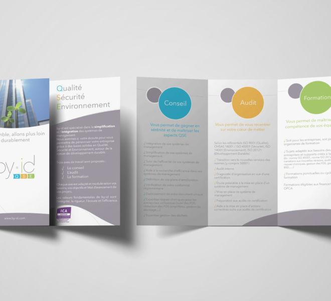 conception dépliant 3 volets By Id par l'agence de communication La Stratégie Créative (Meaux 77)