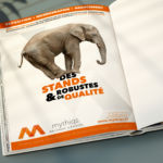 Conception Campagne de communication Mythiqs par l'agence de communication La Stratégie Créative (Meaux 77)