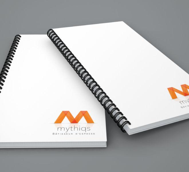 Impression Bloc Note Mythiqs par l'agence de communication La Stratégie Créative (Meaux 77)