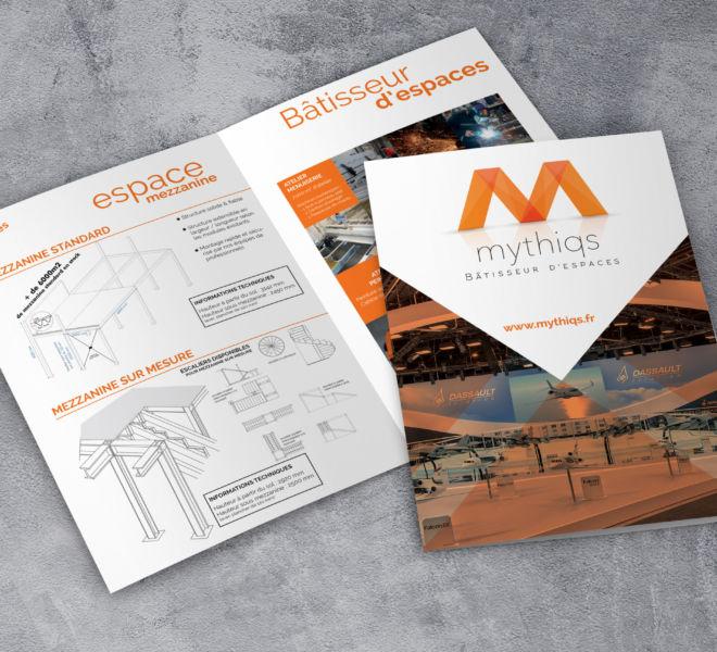 Conception Plaquette Mythiqs par l'agence de communication La Stratégie Créative (Meaux 77)