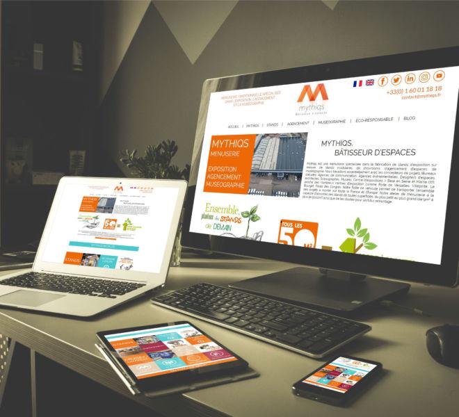 Conception Site Internet responsive Mythiqs par l'agence de communication La Stratégie Créative (Meaux 77)