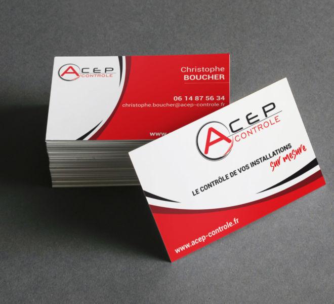 Conception Carte de visite pour Bureau de vérification à Compiègne (60) par l'Agence de communication La stratégie Créative