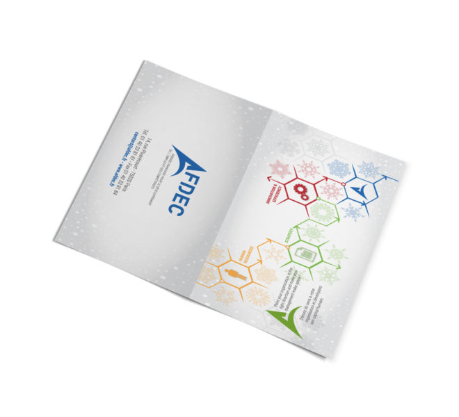 Conception carte de voeux par agence de communication 77