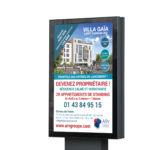 Conception affiche programme immobilier par agence de communication marne la vallée 77