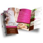 conception plaquette institut de beaute par agence de com meaux 77