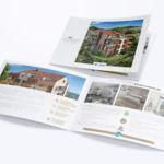Conception de la plaquette de présentation de la Villa Cinque par notre agence de communication 77